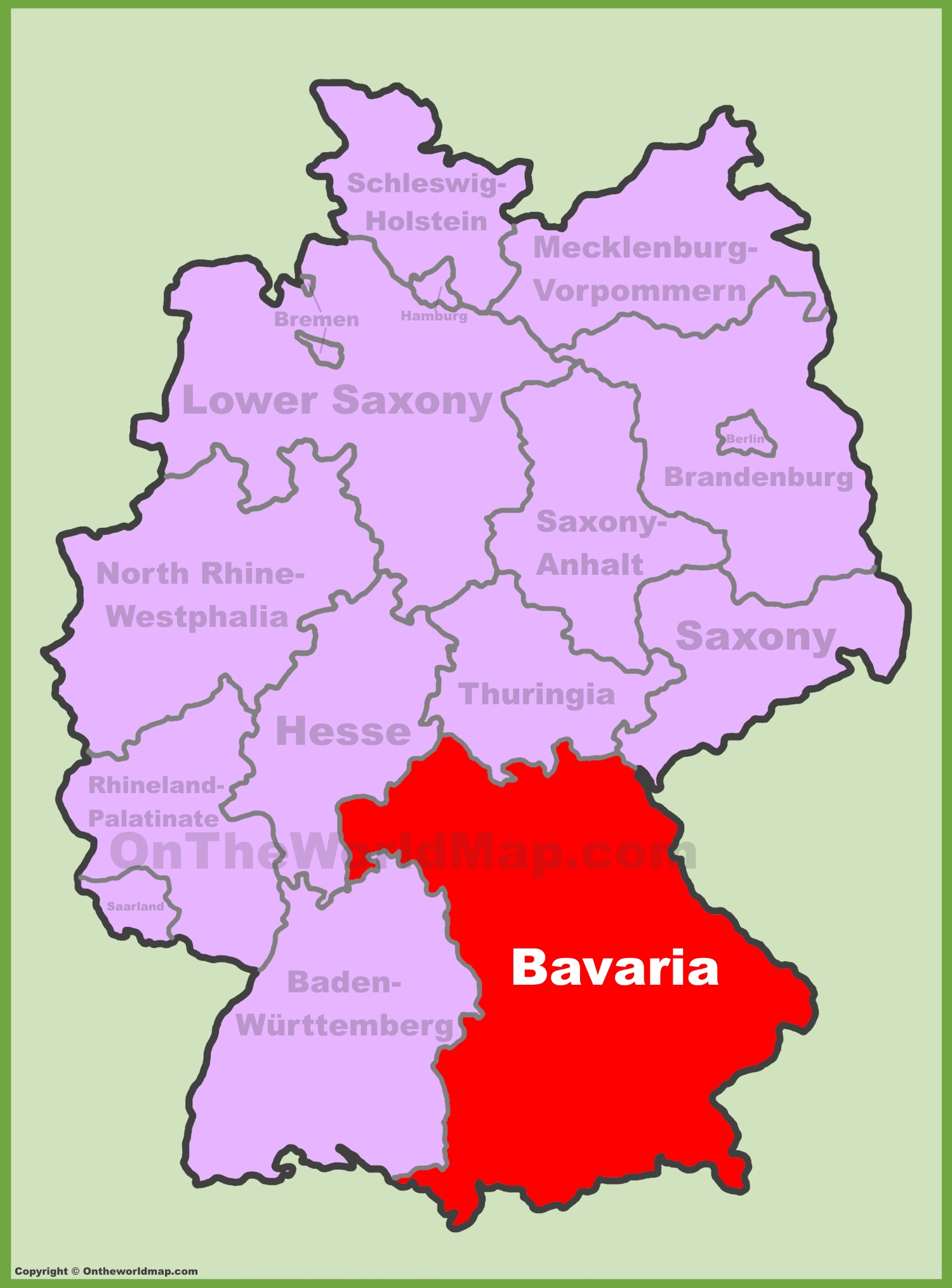 full size bavaria location map