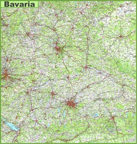 Large detailed map of Bavaria