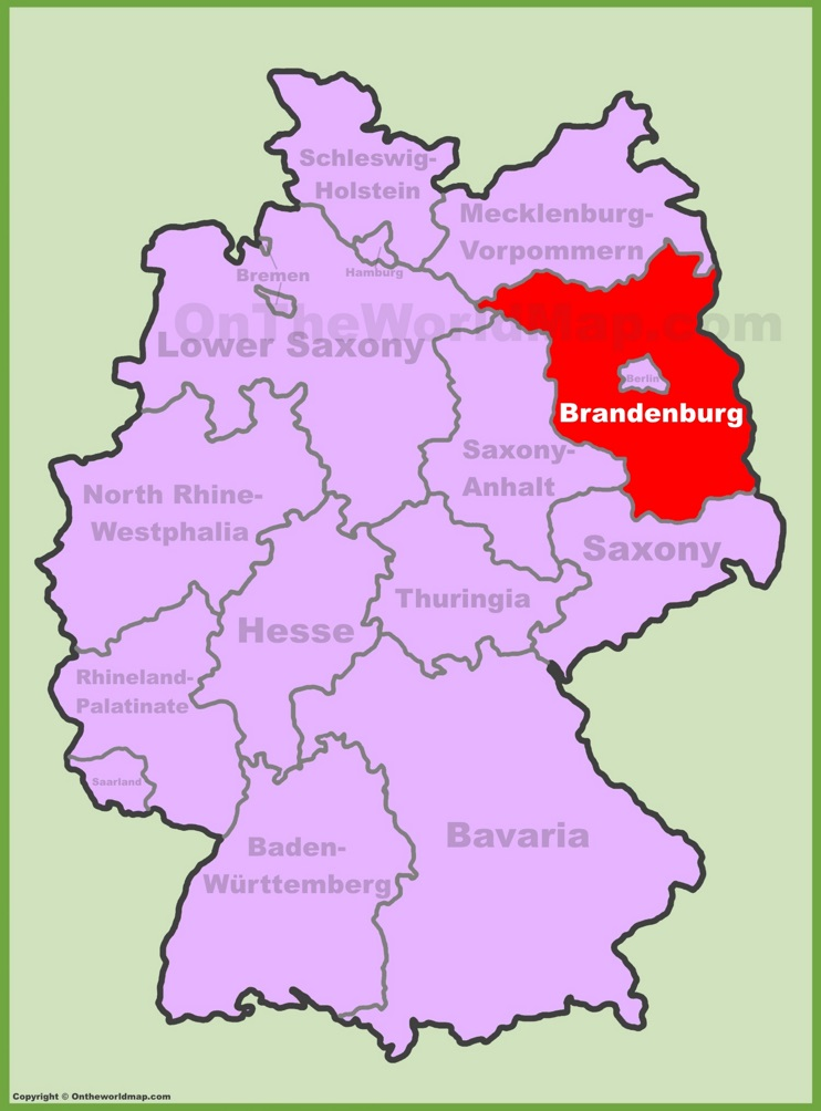 Brandenburg location on the Germany map
