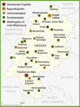 hesse maps germany maps  hesse hessen