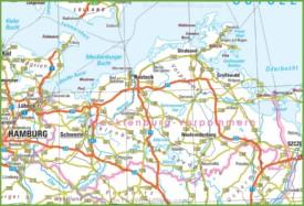 Mecklenburg-Vorpommern road map