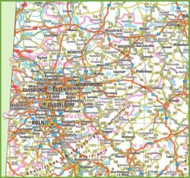 North Rhine-Westphalia road map