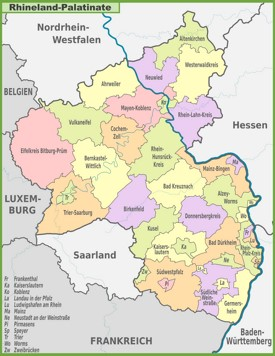 RhinelandPalatinate Maps  Germany  Maps of RhinelandPalatinate