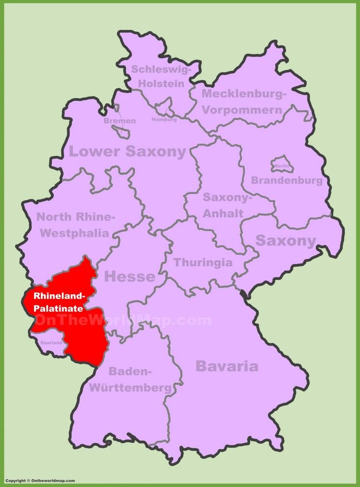 Rhineland-Palatinate location on the Germany map