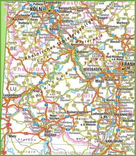 RhinelandPalatinate Maps Germany Maps of RhinelandPalatinate