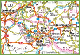 Saarland road map