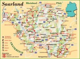 Saarland tourist map
