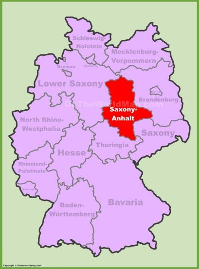 Saxony-Anhalt Location Map