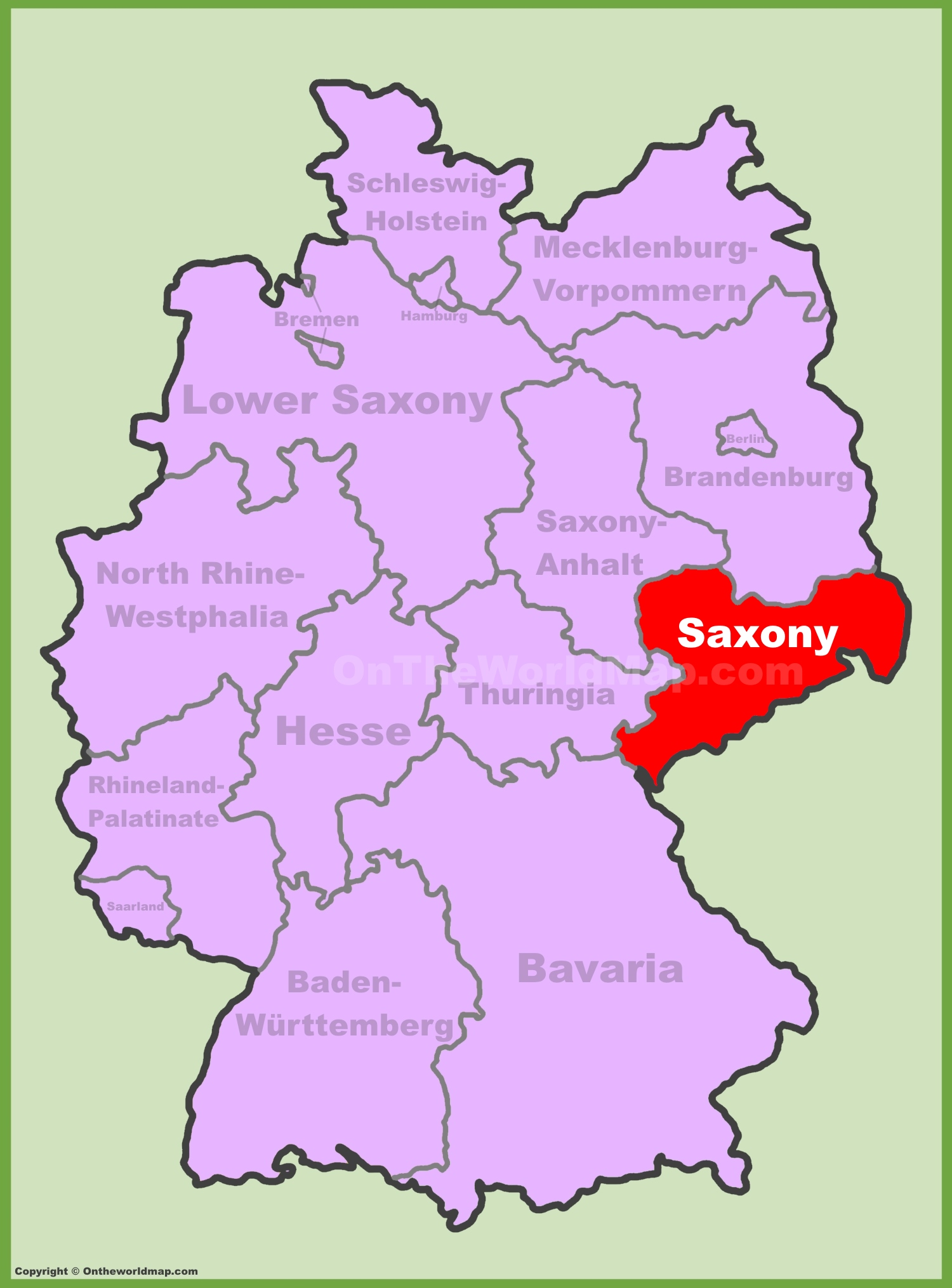 Saxony Maps Germany Maps Of Saxony Sachsen - Germany map in world map
