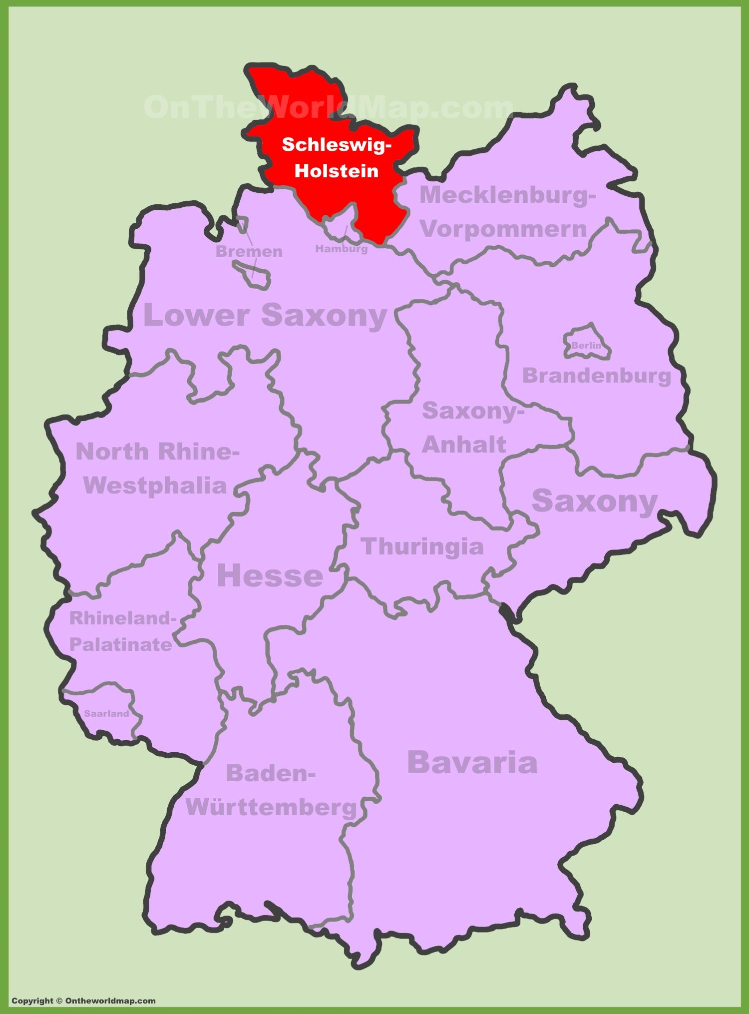 SchleswigHolstein Maps Germany Maps of SchleswigHolstein