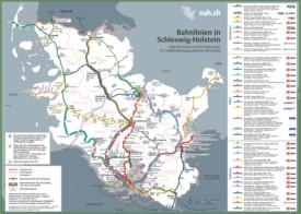 Schleswig-Holstein railway map