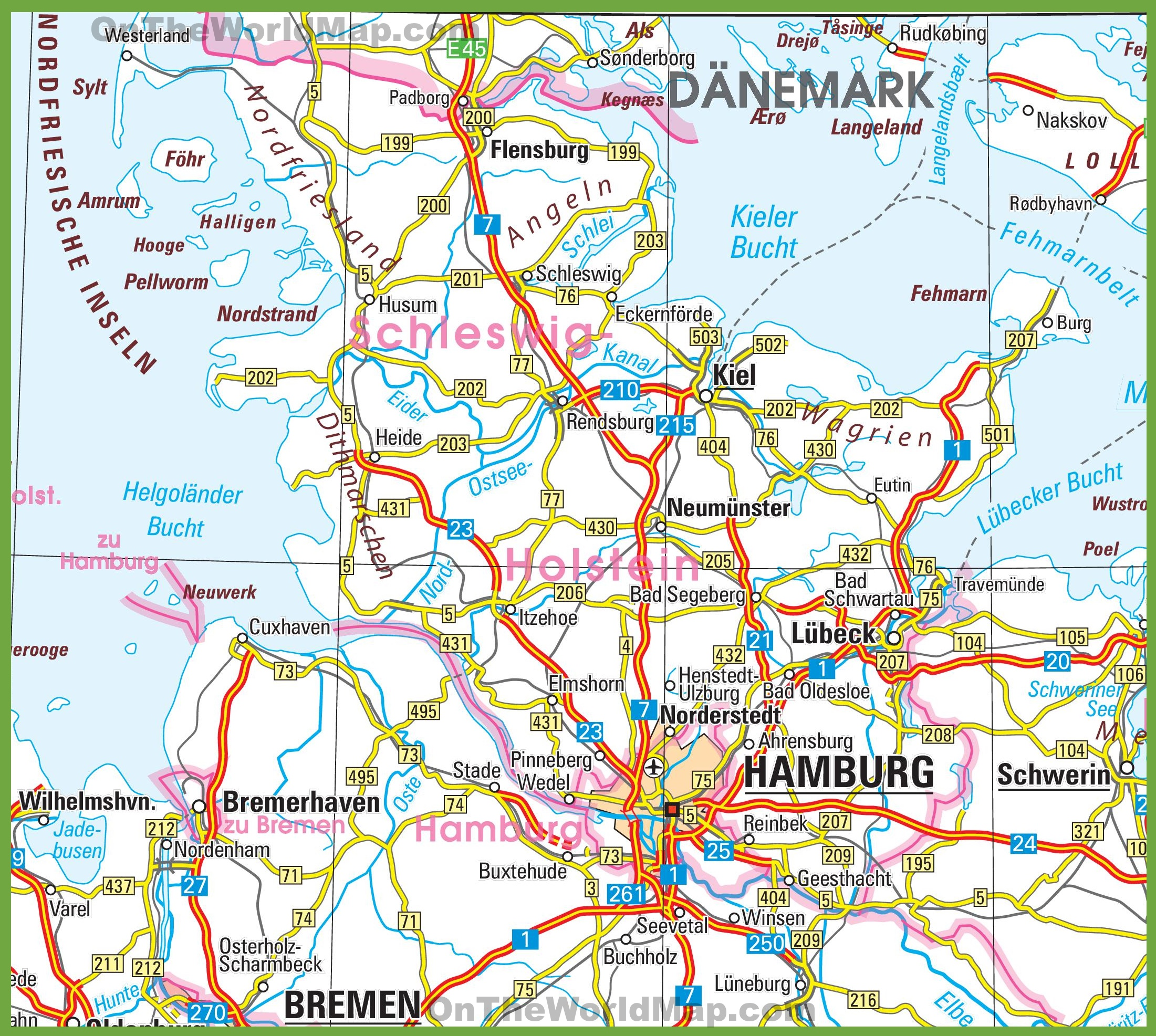 SchleswigHolstein road map