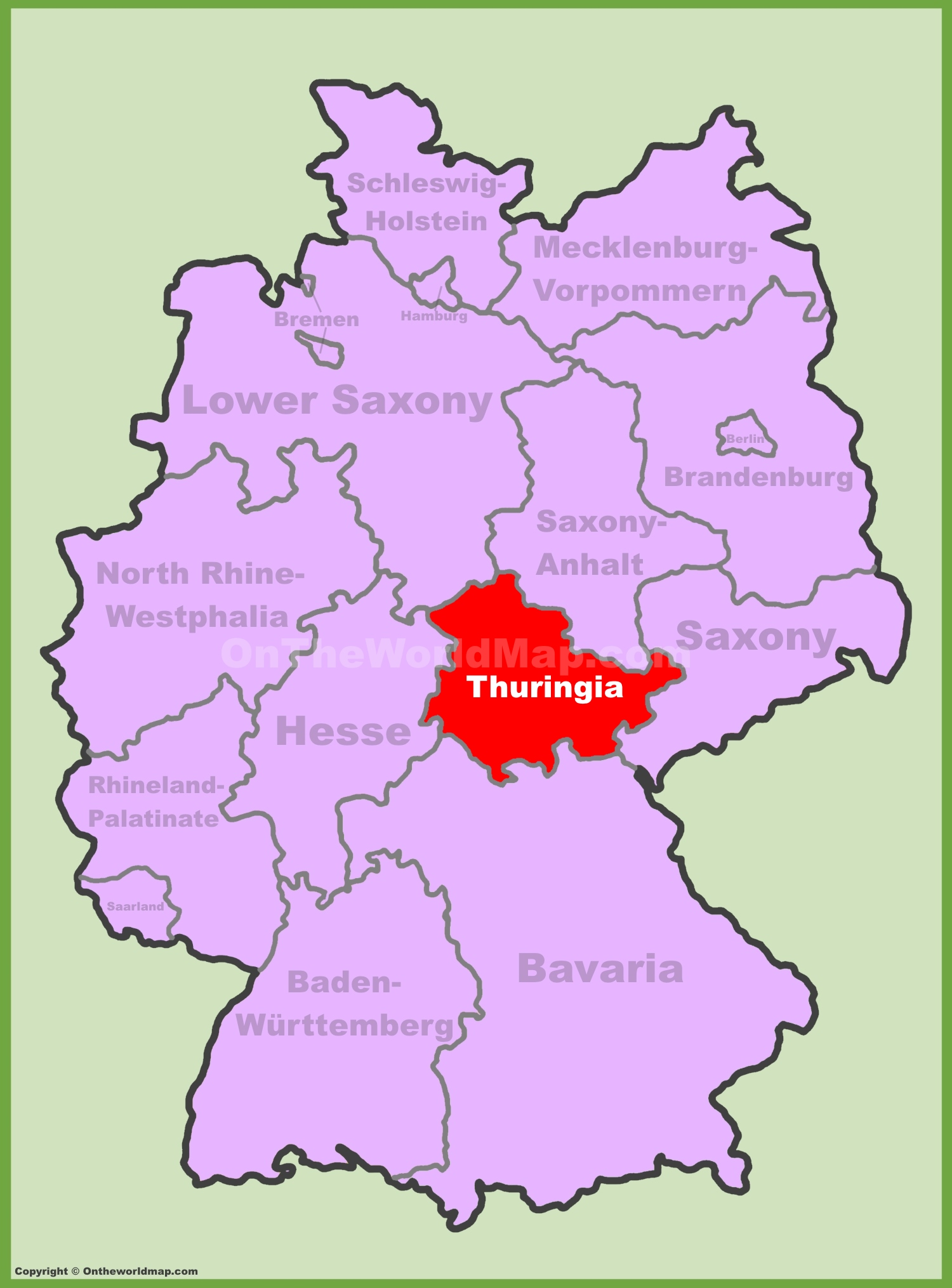 full size thuringia location map