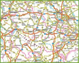 Thuringia Maps Germany Maps of Thuringia Thringen