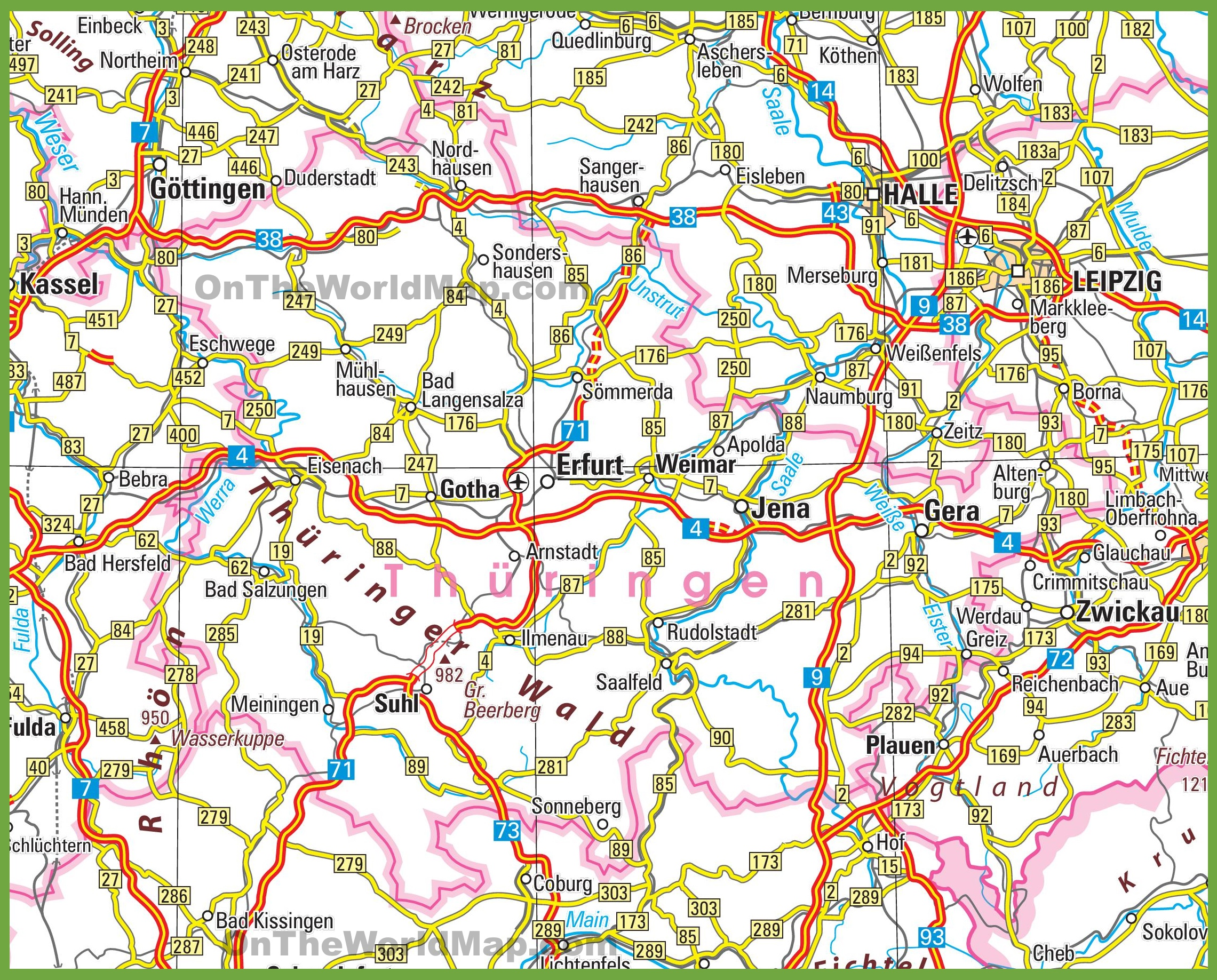 Thuringia road map