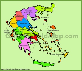 Administrative map of Greece