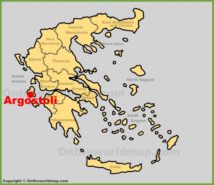 Argostoli location on the Greece map