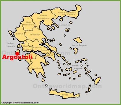 Argostoli Location Map