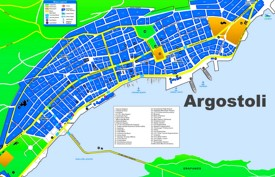 Argostoli tourist map