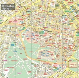 Athens city center map