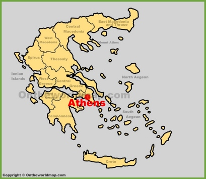 Athens Location Map