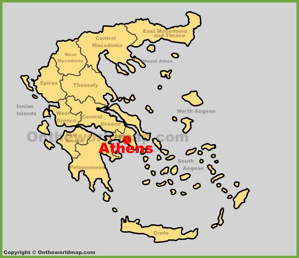 Athens maps greece maps of athens full size athens location map gumiabroncs Image collections