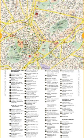 Athens sightseeing map