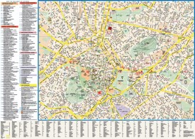 Athens tourist attractions map