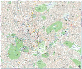 Athens tourist map