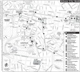Athens walk map