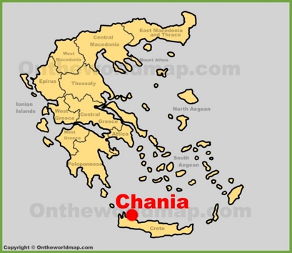 Chania Location Map