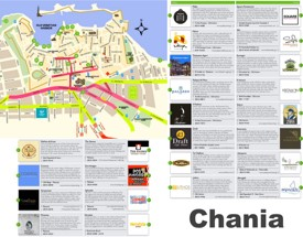 Chania restaurant map