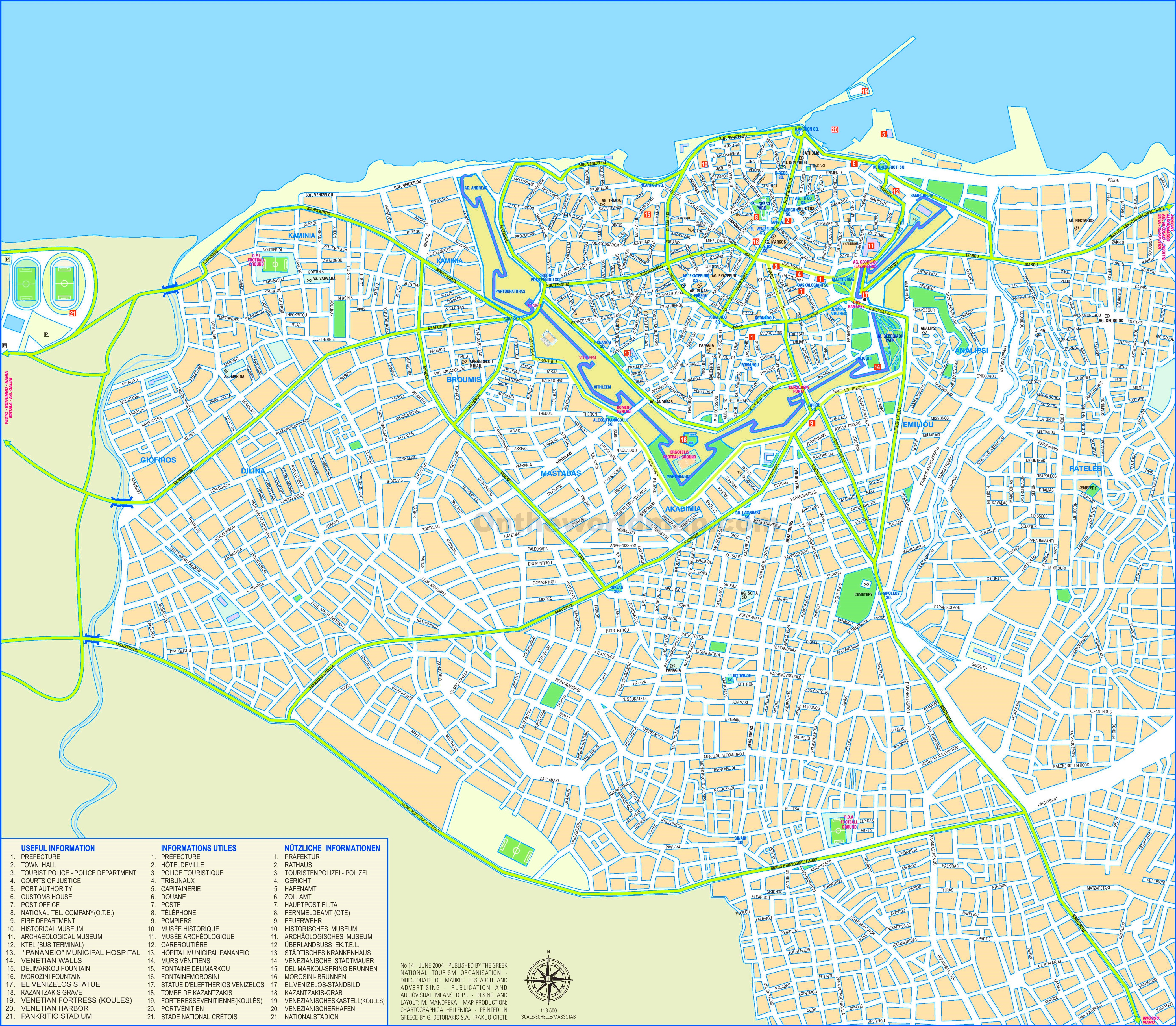Heraklion Maps Greece Maps of Heraklion