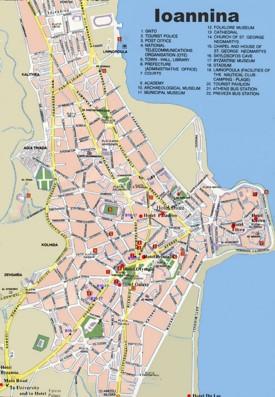 Ioannina tourist map