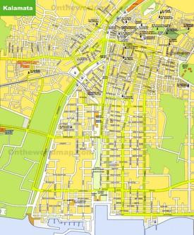 Kalamata tourist map