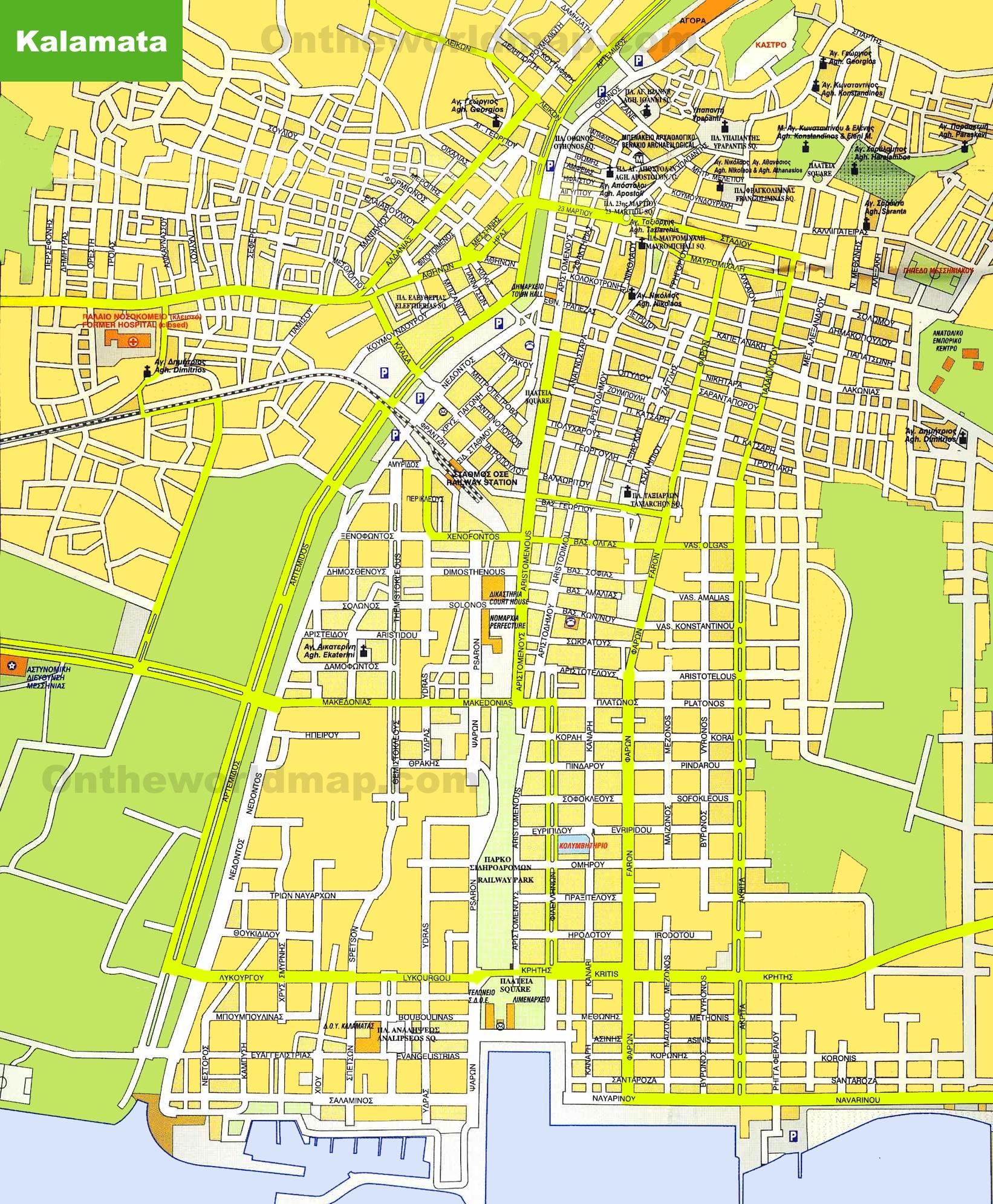 Kalamata Maps Greece Maps of Kalamata