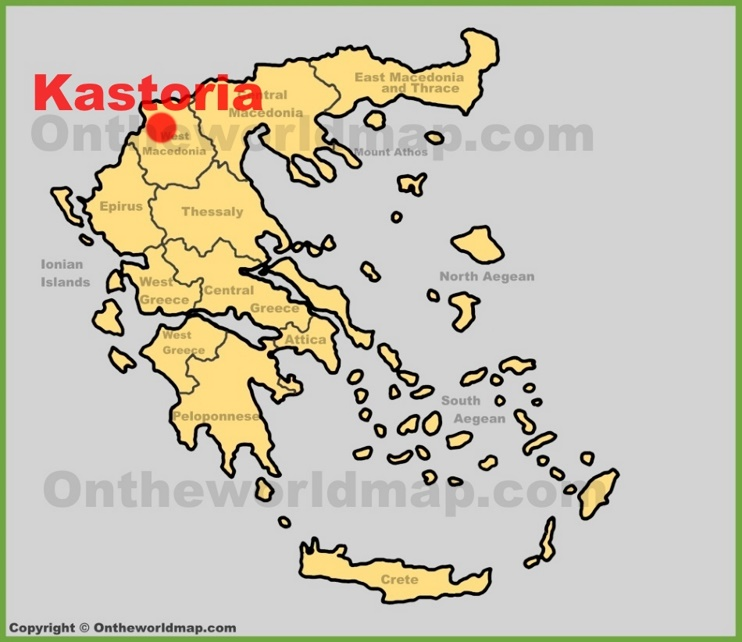 Kastoria location on the Greece map