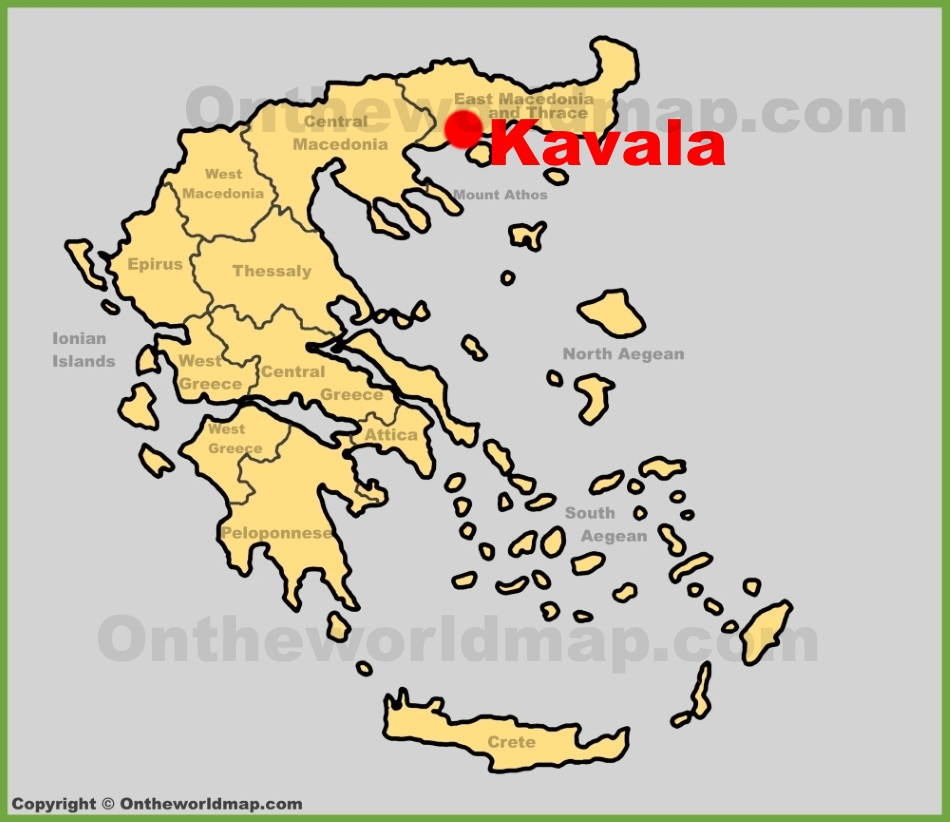 Kavala location on the Greece map