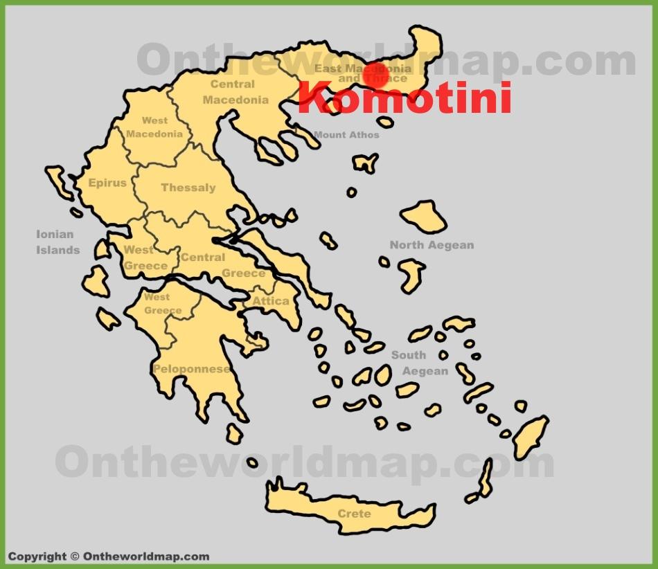 Komotini location on the Greece map