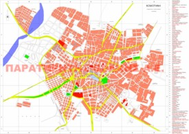 Komotini sightseeing map