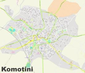 Komotini street map