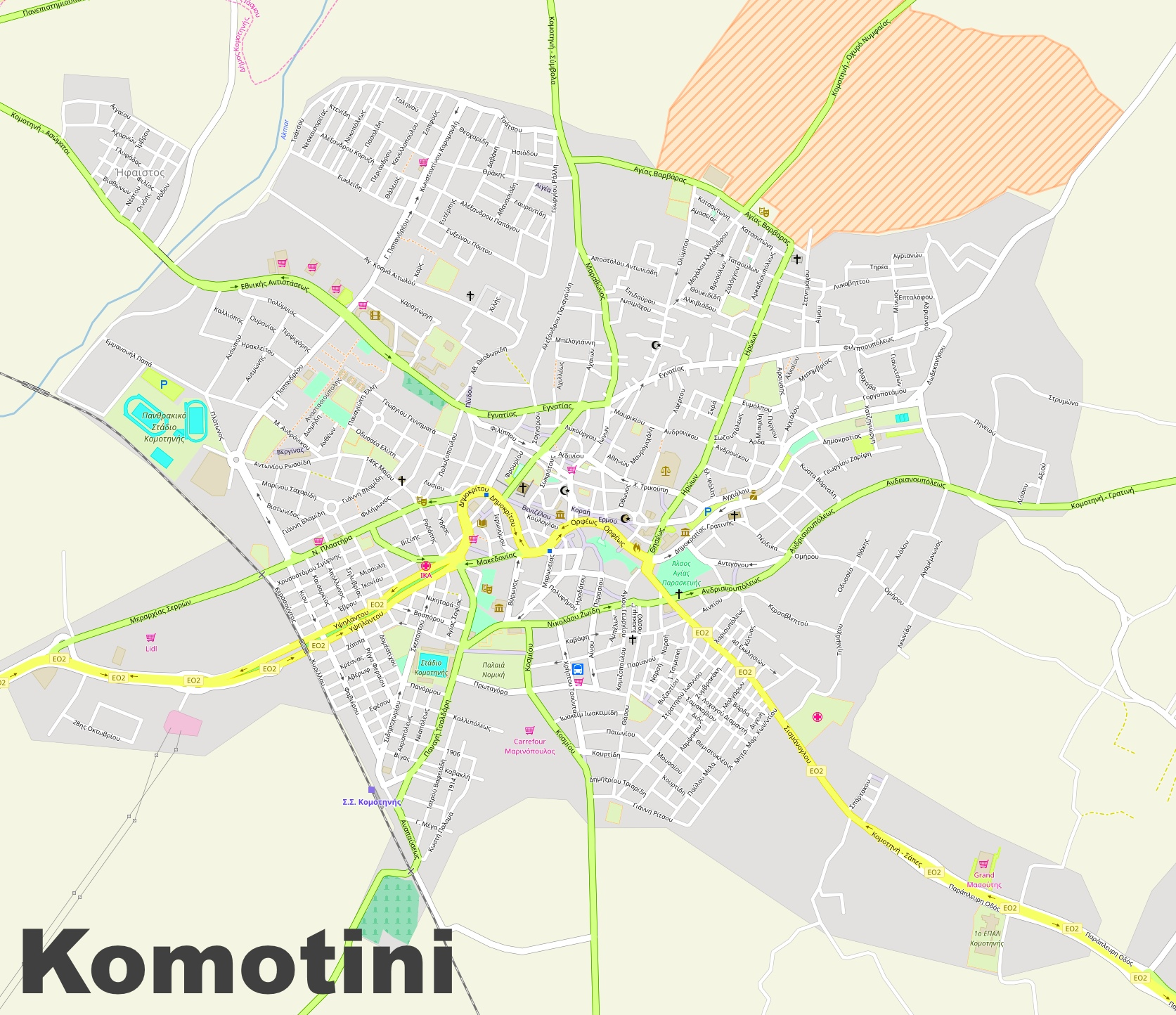 Komotini Maps Greece Maps of Komotini
