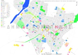 Komotini tourist attractions map