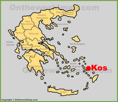 Kos City Location Map