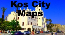 Kos City maps