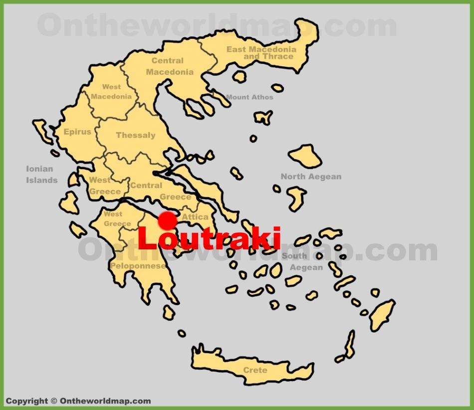 Loutraki location on the Greece map