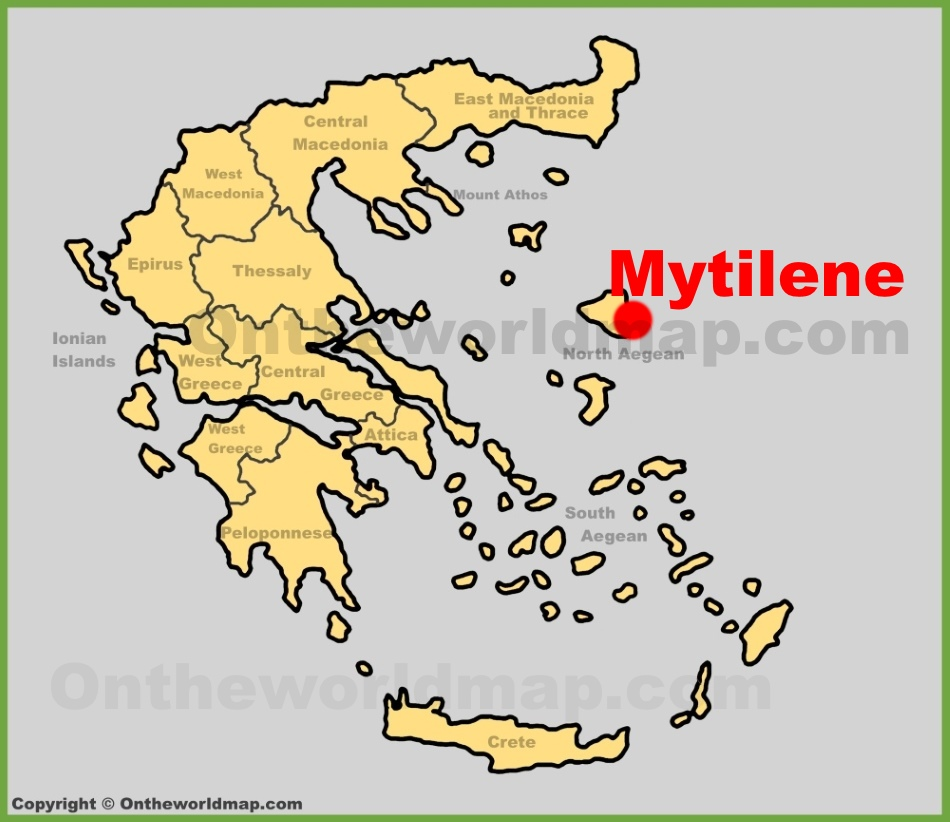 Mytilene Maps Greece Maps of Mytilene