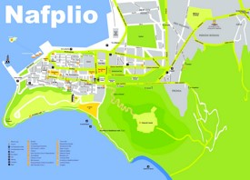 Nafplio sightseeing map