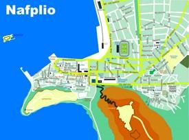 Nafplio tourist map
