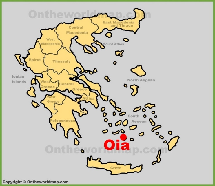 Oia location on the Greece map